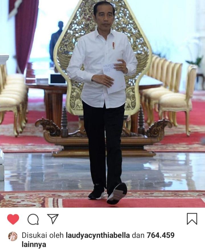 Presiden Jokowi dalam akun Instagram resmi. Foto: Tangkapan layar