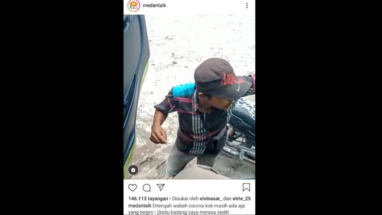 Video viral pungutan liar terhadap seorang sopir truk di Sumut. Foto: Screenshoot