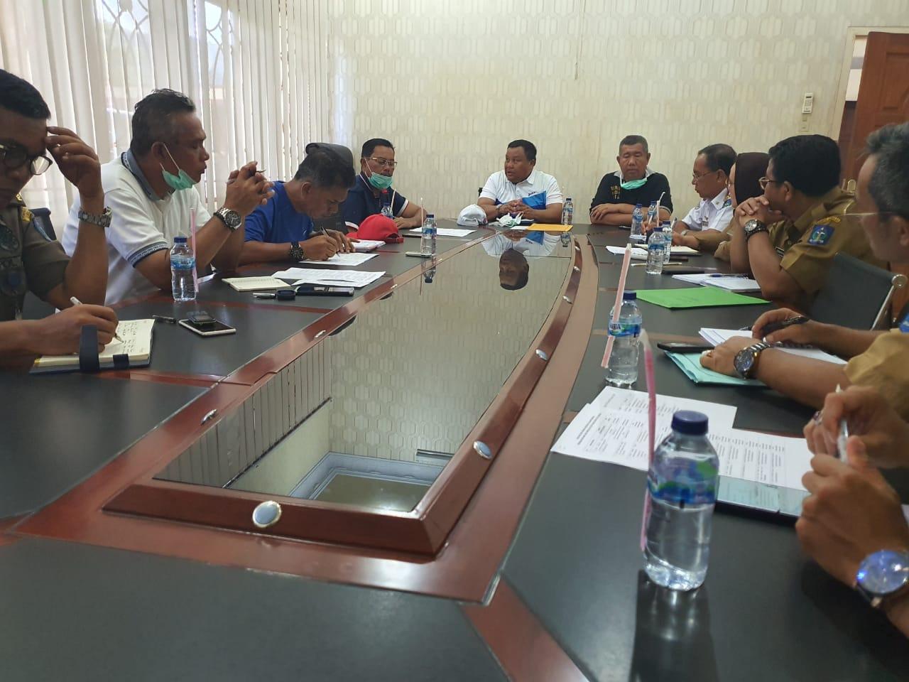 Suasana rapat khusus bersama Panitia HJS ke-320 di ruang desk Pilkada Kantor Wali Kota Sibolga. Foto: Istimewa