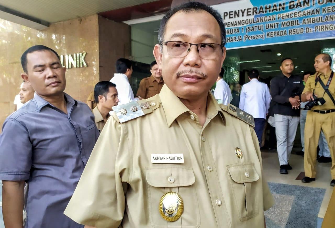 Plt Wali Kota Medan Akhyar Nasution di RSUD Pirngadi Medan. Foto: Istimewa
