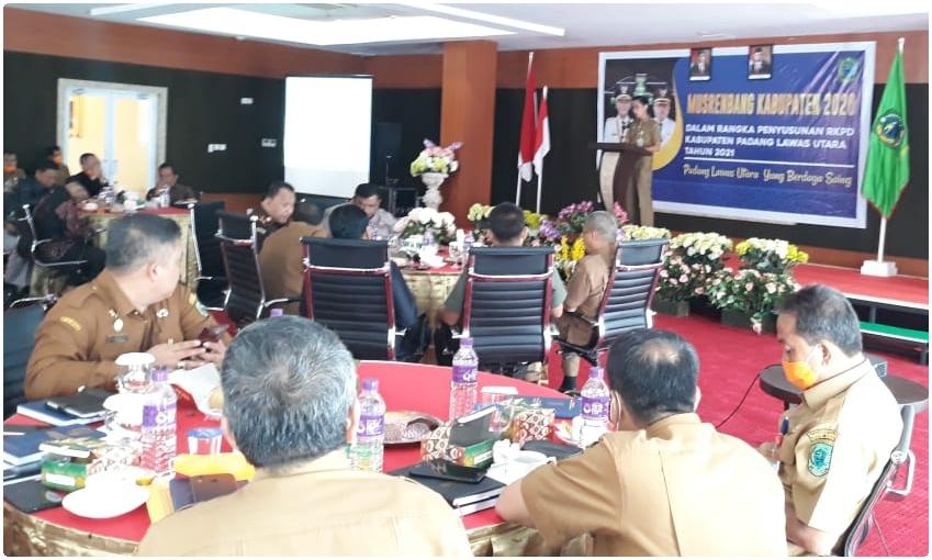 Bupati Paluta Buka Musrenbang Tahun 2020. Foto: Rakyatsumut.com/ Rifai Dalimunthe