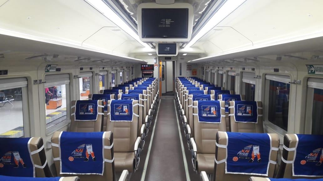 Suasana Gerbong Kereta Api Sribilah Premium yang akan dilakukan pengurangan perjalanan. Foto: Istimewa