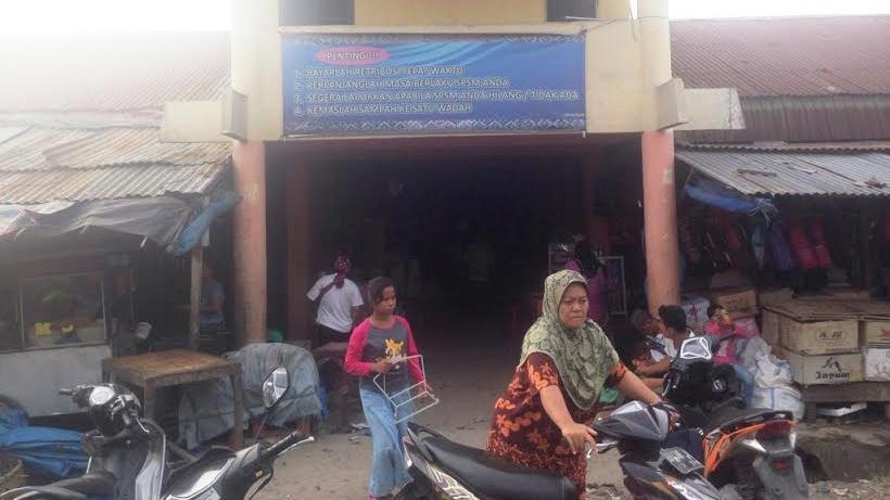 Suasana di Pasar Gunung Tua, Kecamatan Padang Bolak, Kabupaten Paluta. Foto: Istimewa.