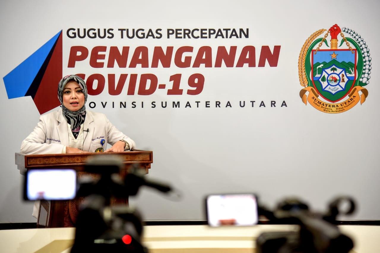 Koordinator Medis dan Paramedis Gugus Tugas Percepatan Penanganan Covid-19 Provinsi Sumatera Utara (Sumut) Restuti Hidayani Saragih. Foto: Biro Humas dan Keprotokolan Setdaprovsu / Fahmi Aulia