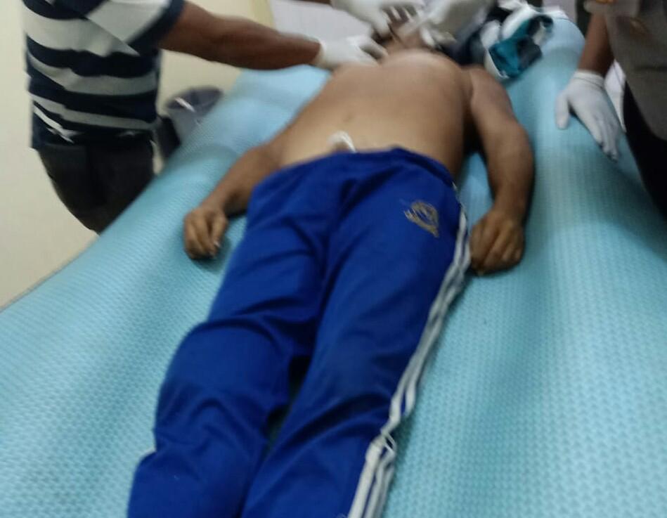 Korban Ahuat saat berada di Rumah Sakit. Foto: istimewa