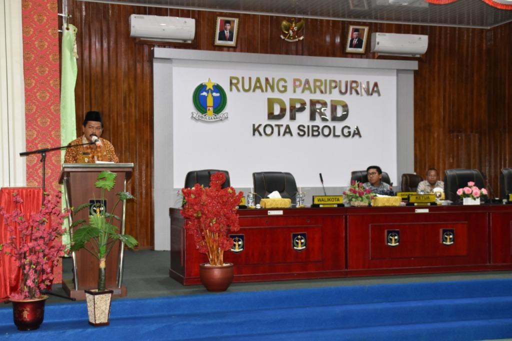 FOTO Wakil Wali Kota Sibolga Hadiri Paripurna Reses Pertama DPRD Tahun 2020