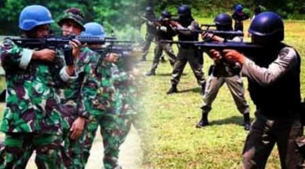 Ilustrasi bentrok TNI-Polri. Foto: transsulawesi.com