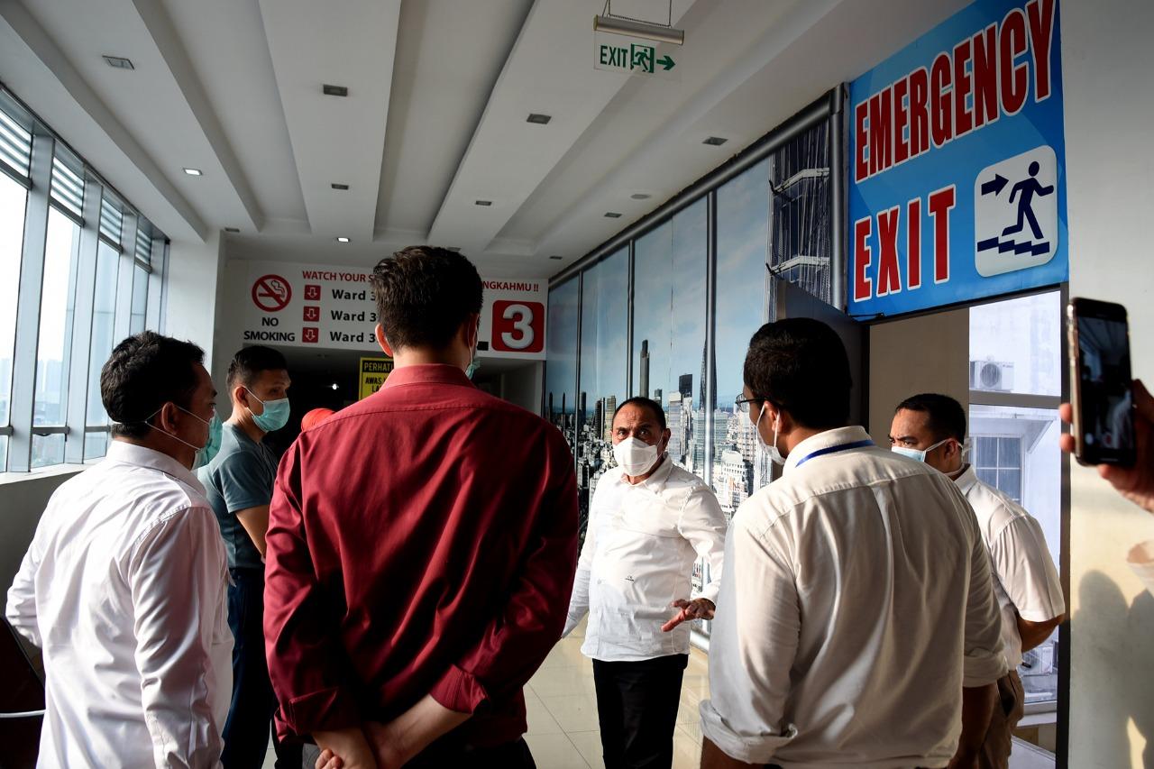 Gubernur Sumatera Utara, Edy Rahmayadi memberi pengarahan kepada Tim Gugus Tugas Percepatan dan Penanganan Covid-19 Sumatera Utara. Foto: Biro Humas & Keprotokolan Setdaprovsu/ Fahmi Aulia