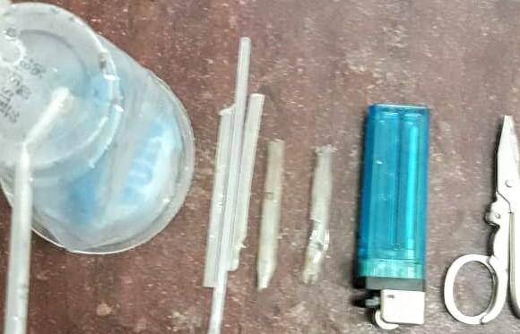 Alat isap narkoba jenis sabu yang ditemukan dari lokasi perjudian. Foto: Istimewa