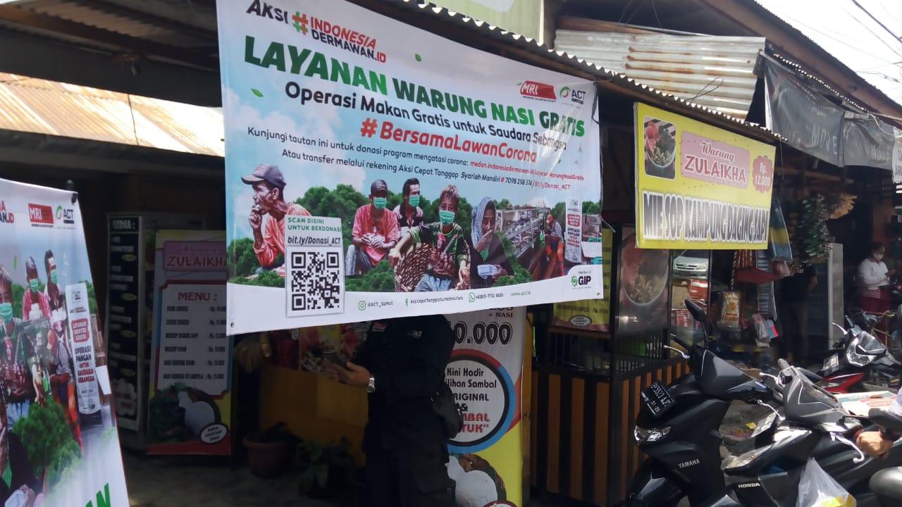 Warung makan gratis ACT Sumatera Utara. Foto: Istimewa