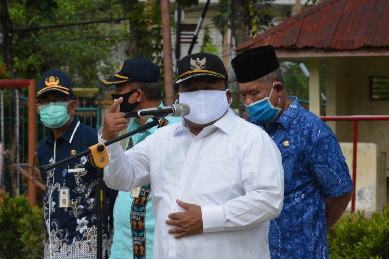 Wali Kota Sibolga Syarfi Hutauruk saat memberikan arahan. Foto: istimewa