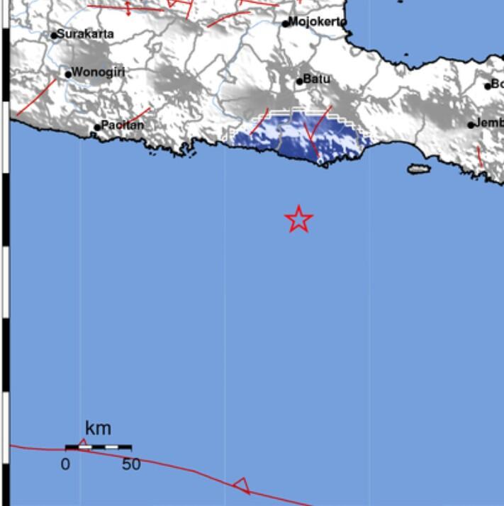 Laut pada jarak 64 km Barat Daya Meulaboh-Aceh Barat pada kedalaman 41 km. Foto: tangkaplayar