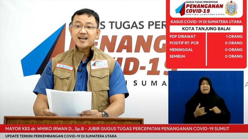 Juru Bicara Gugus Tugas Percepatan Penanganan Covid 19 Provinsi Sumatera Utara (Sumut) Mayor Kes. dr. Whiko Irwan. Foto: Istimewa