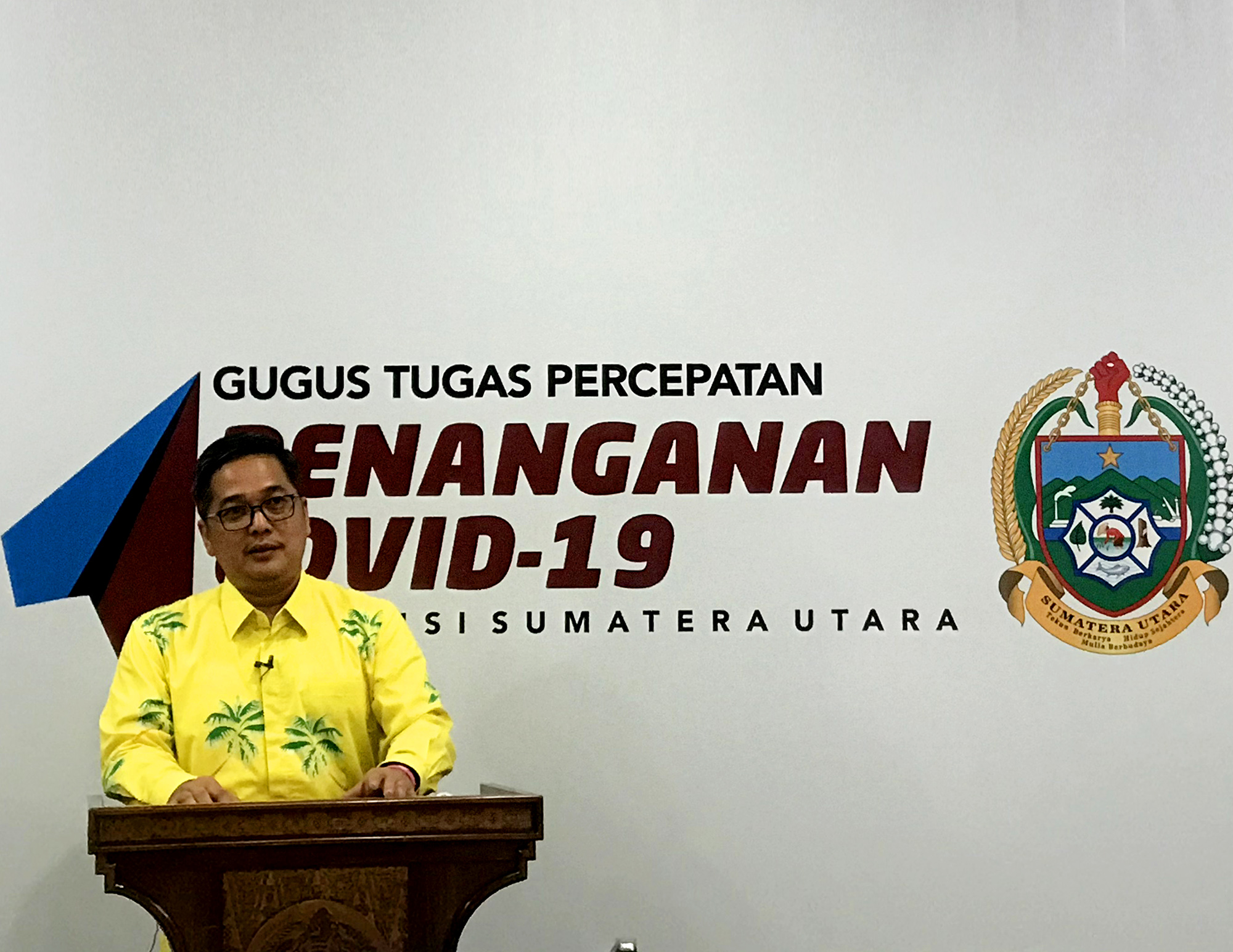 Juru Bicara Gugus Tugas Percepatan Penanganan Covid-19 Sumut Aris Yudhariansyah. Foto: Istimewa