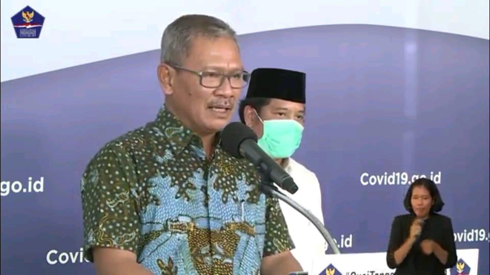 Juru bicara pemerintah untuk penanganan Covid-19 di Indonesia, Achmad Yurianto. Foto: Tangkapan layar