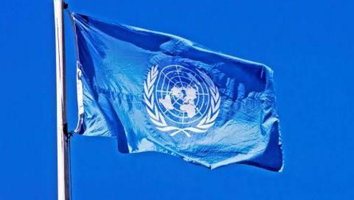 Ilustrasi bendera PBB.