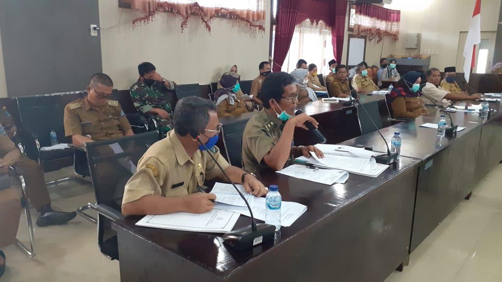 uasana Rapat Seksi Tim Gugus Percepatan dan Penanganan Covid-19 Kota Sibolga Di Aula Nusantara Foto: Rakyatsumut.com/ Mirwan Tanjung