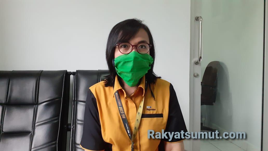 Kepala Kantor Cabang Pegadaian Sibolga Vera Togatorop. Foto: Rakyatsumut.com/ Mirwan Tanjung