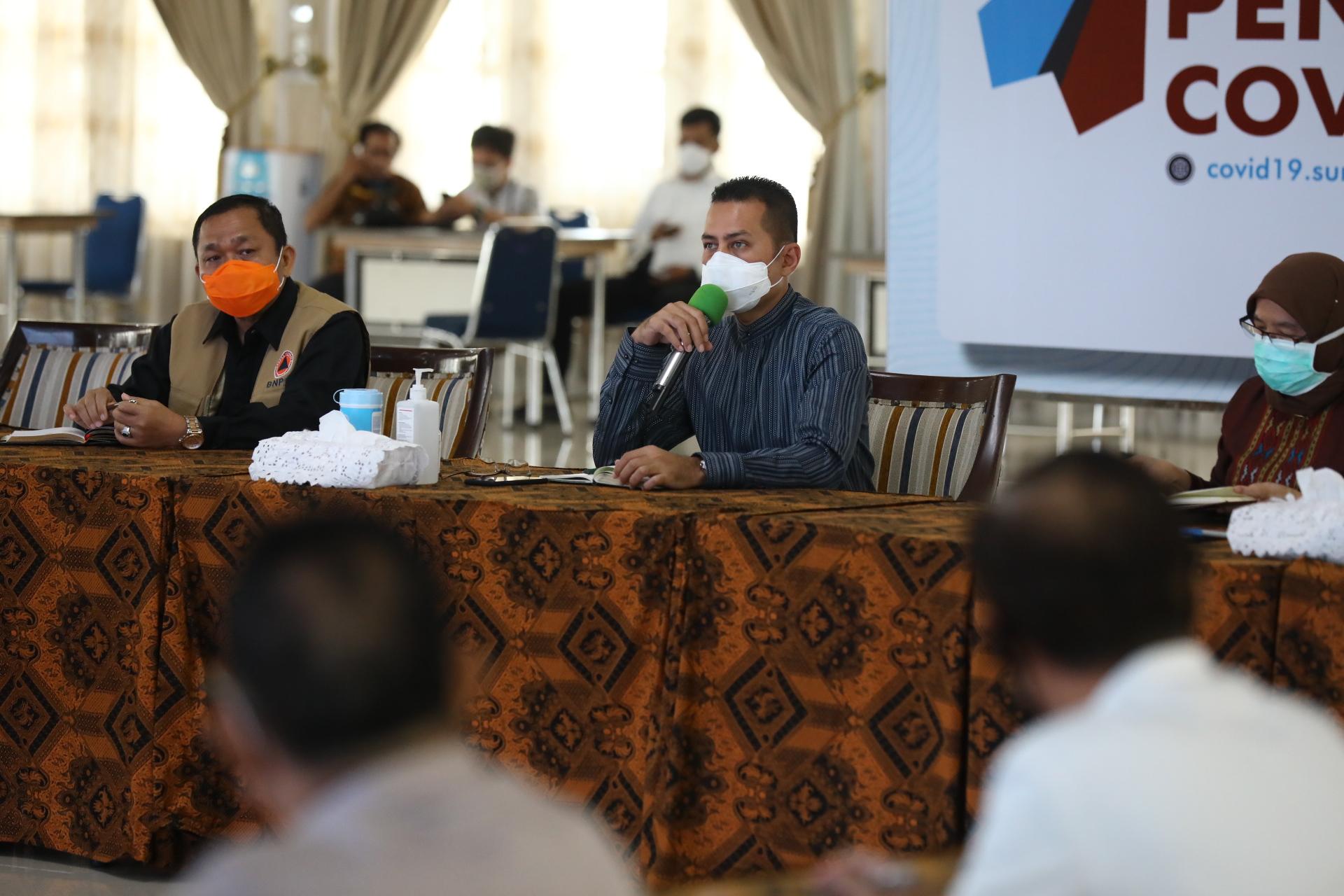 Wagub Sumut Musa Rajekshah memimpin rapat persiapan pelaksanaan Hari Raya Idul Fitri 1441 H. Foto: istimewa