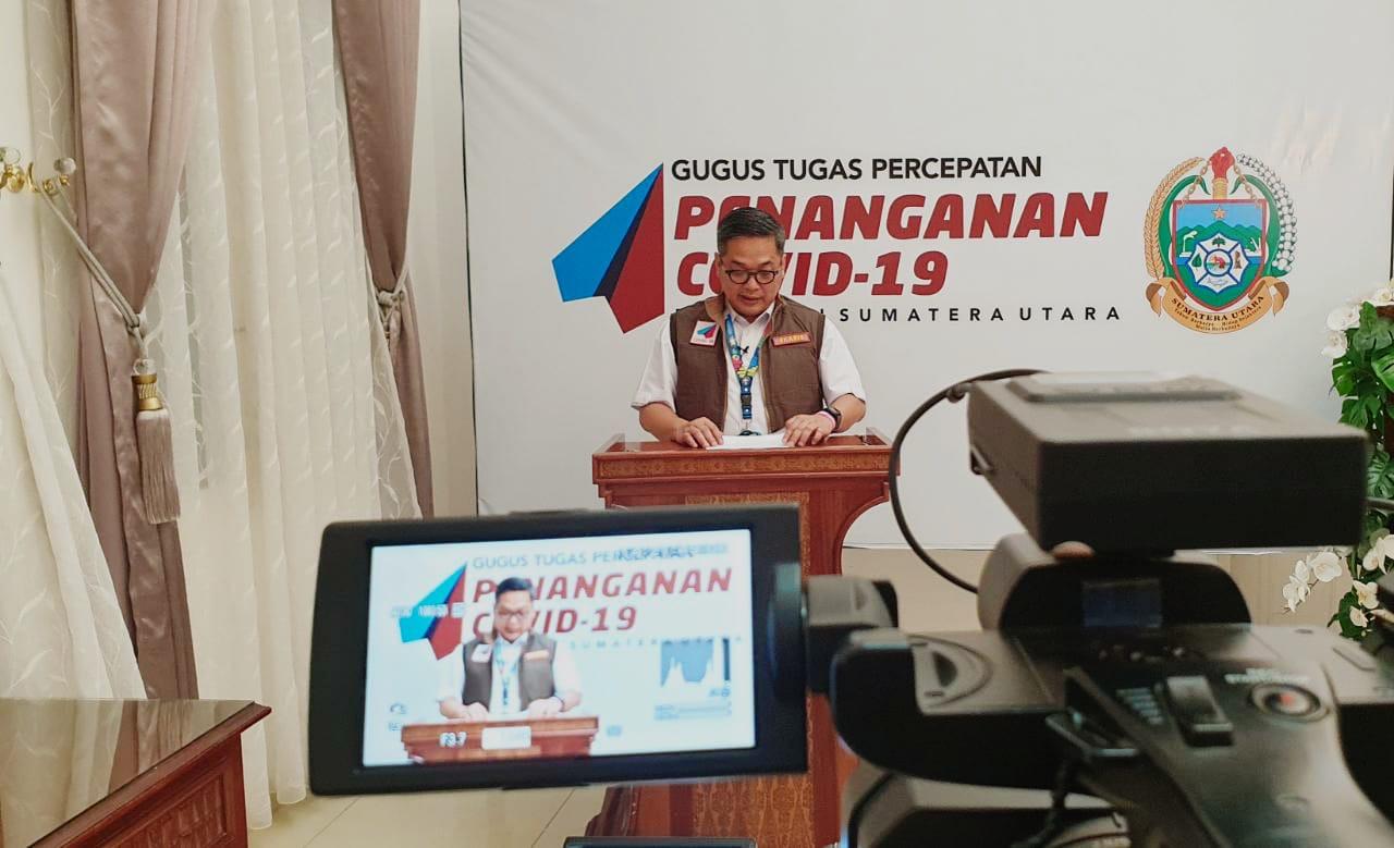 Juru Bicara (Jubir) Tim Gugus Tugas Percepatan Penanganan (GTPP) Covid-19 Provinsi Sumatera Utara (Sumut) Aris Yudhariansyah. Foto: istimewa