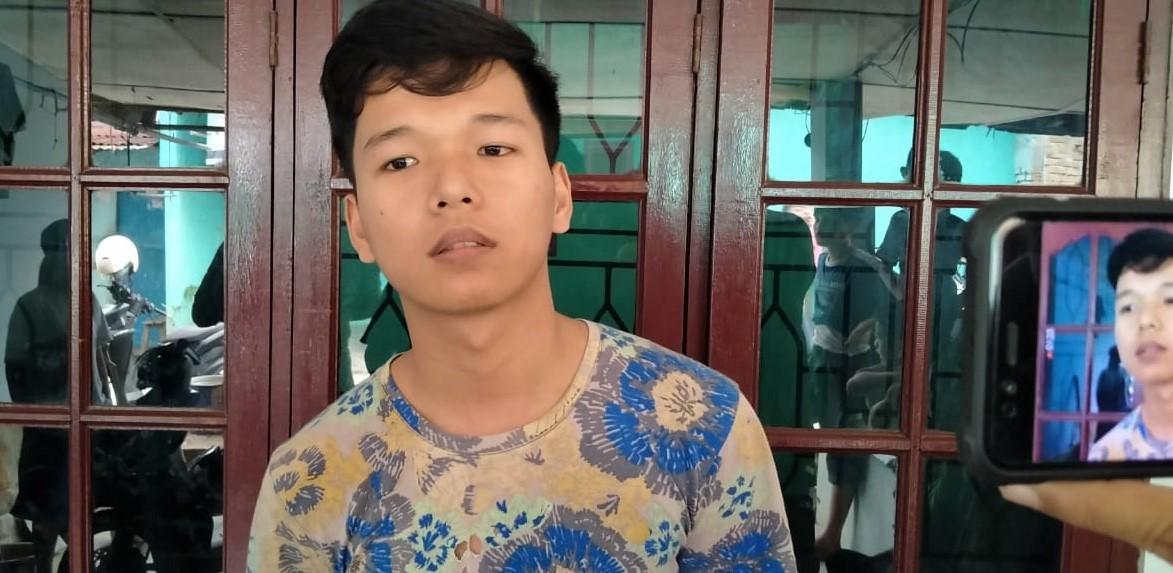Maruba Manurung (20), anak korban jambret yang mengalmi putus jari di Jalan AR Hakim Medan. Foto: Istimewa