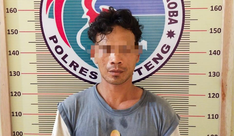 Tersangka IL alias U (34) warga Tapteng saat diamankan. Foto: istimewa