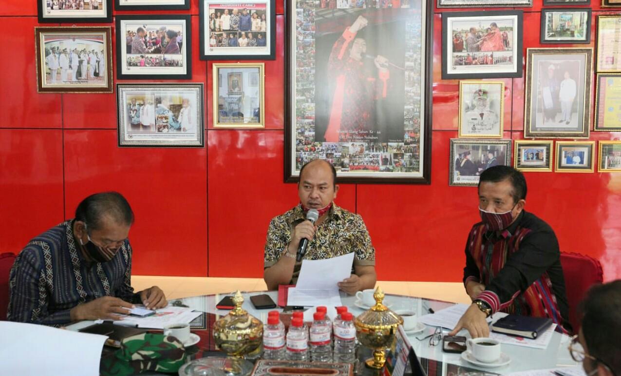 Keterangan: Nikson Nababan memimpin rapat koordinasi bersama Forkopimda Taput Foto: Istimewa