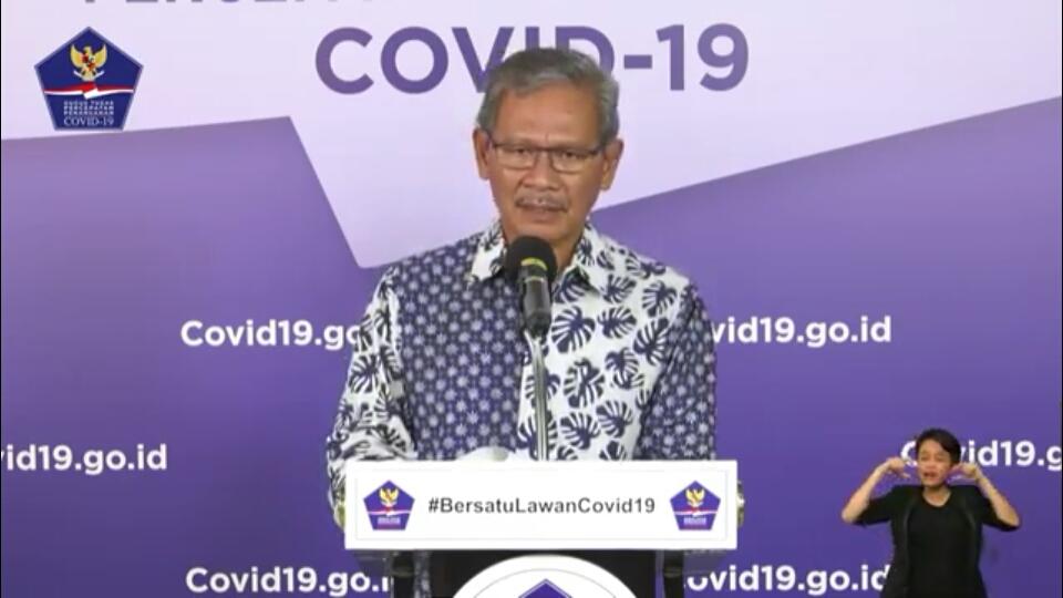 Achmad Yurianto Juru Bicara Pemerintah untuk Penanganan Covid-19 di Indonesia, dalam konfrensi pers di Jakarta. Foto: Tangkapan Layar