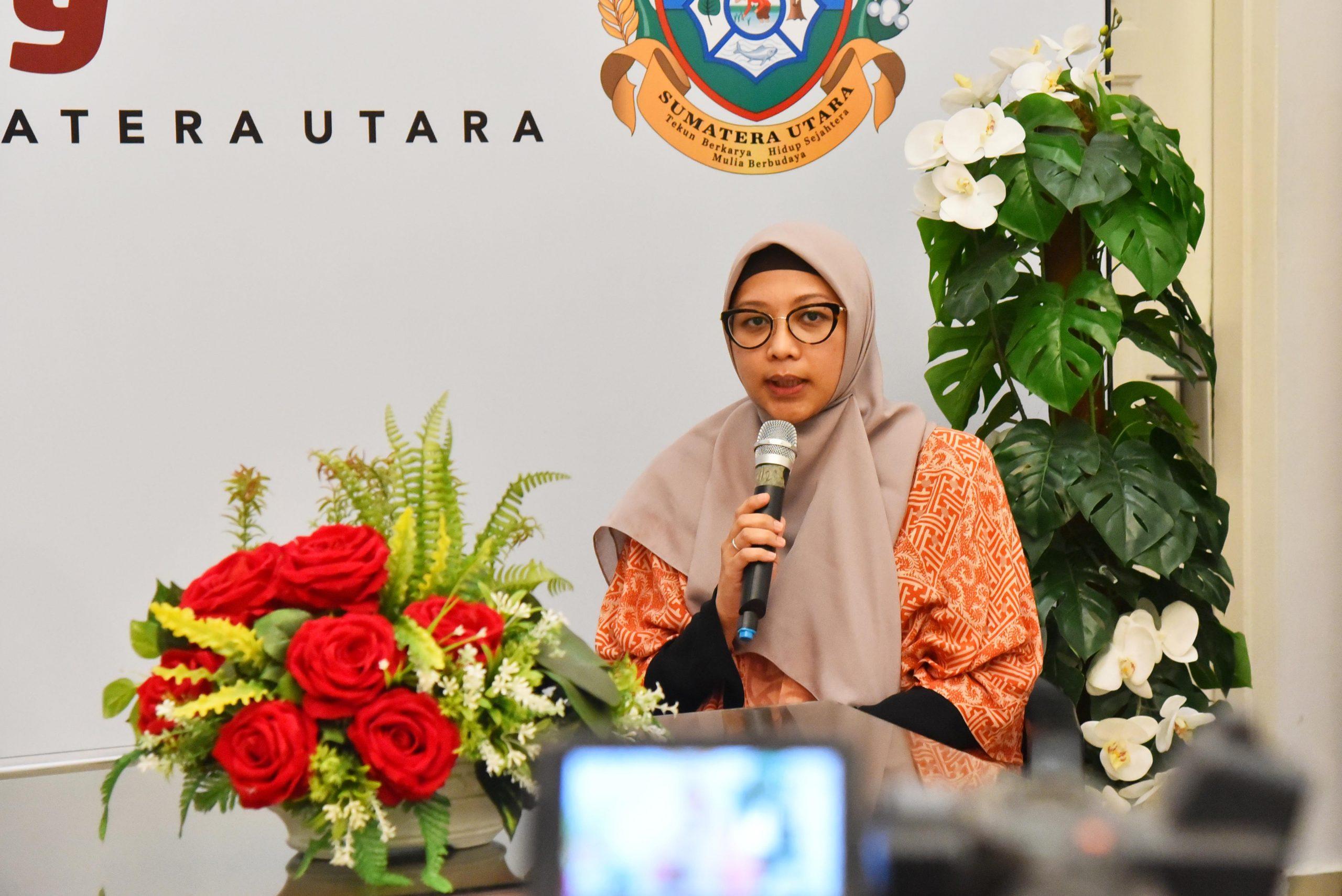 Juru Bicara Gugus Tugas Percepatan Penanganan (GTPP) Covid-19 Provinsi Sumatera Utara (Sumut) Whiko Irwan melakukan TalkShow bersama dr. Dewi Indah Sari Siregar, M. Ked (ClinPath), Sp.PK Ketua Tim Lab Pemeriksa Covid-19 RS USU, Direktur Adm. Umum, SDM & Keu RS USU, Kamis (7/5/2020).