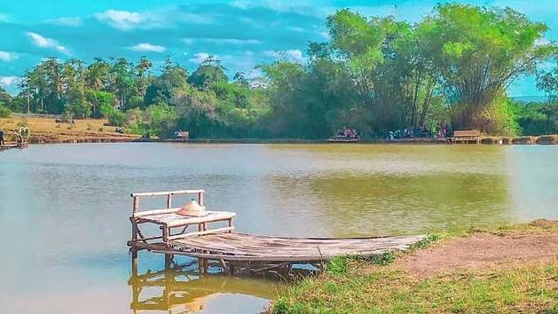 Objek Wisata Danau Sagayung, Kabupaten Paluta. Foto: Rakyatsumut.com/ Rifai Dalimunthe