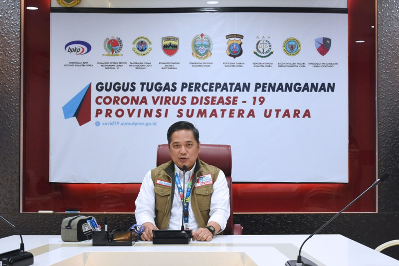 Juru bicara (Jubir) GTPP Covid-19 Aris Yudhariansyah Foto: Biro Humas dan Keprotokolan Setda Provsu