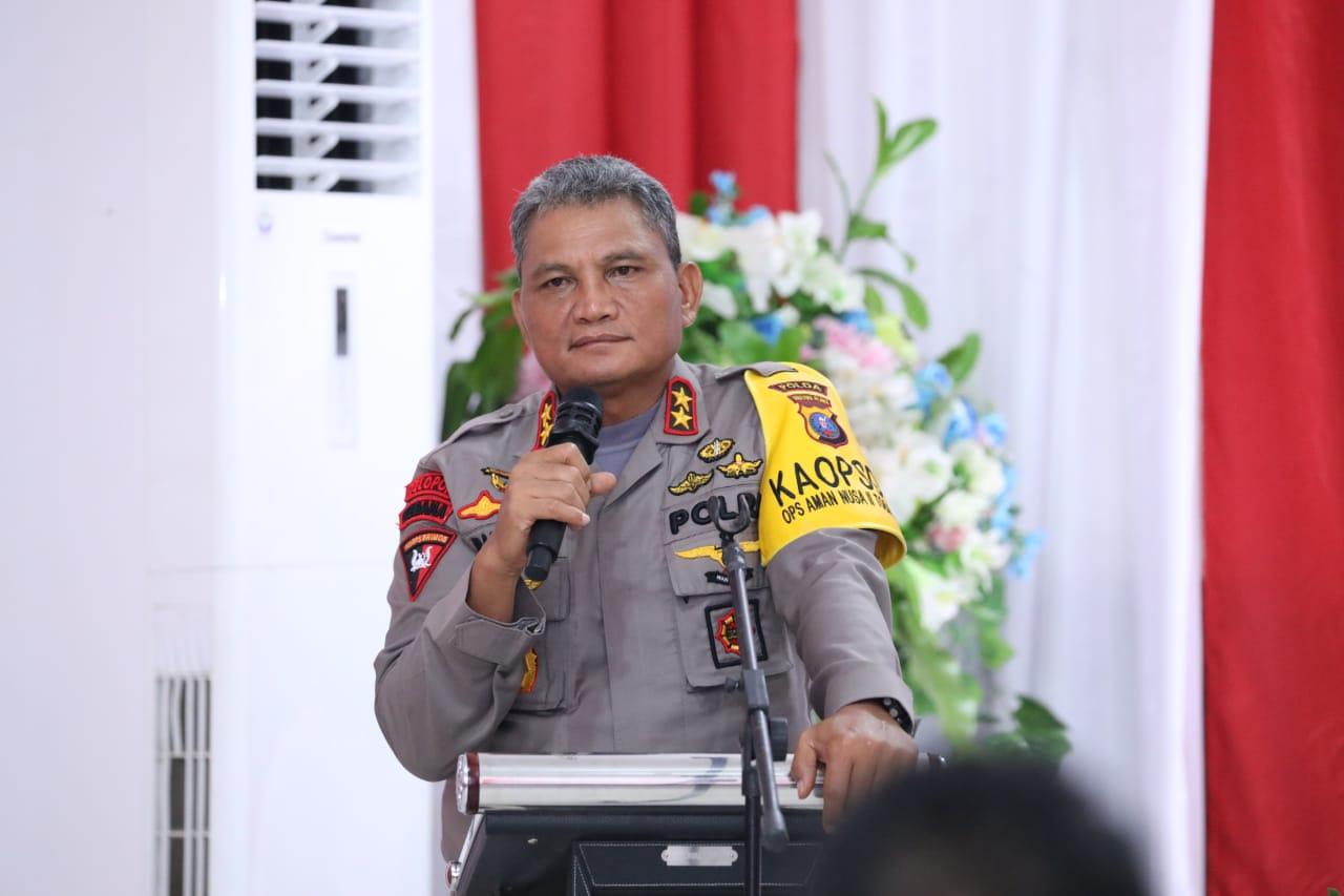 Kapolda Sumut Irjen Pol Martuani Sormin saat memberi arahan di Batubara. Foto: Istimewa