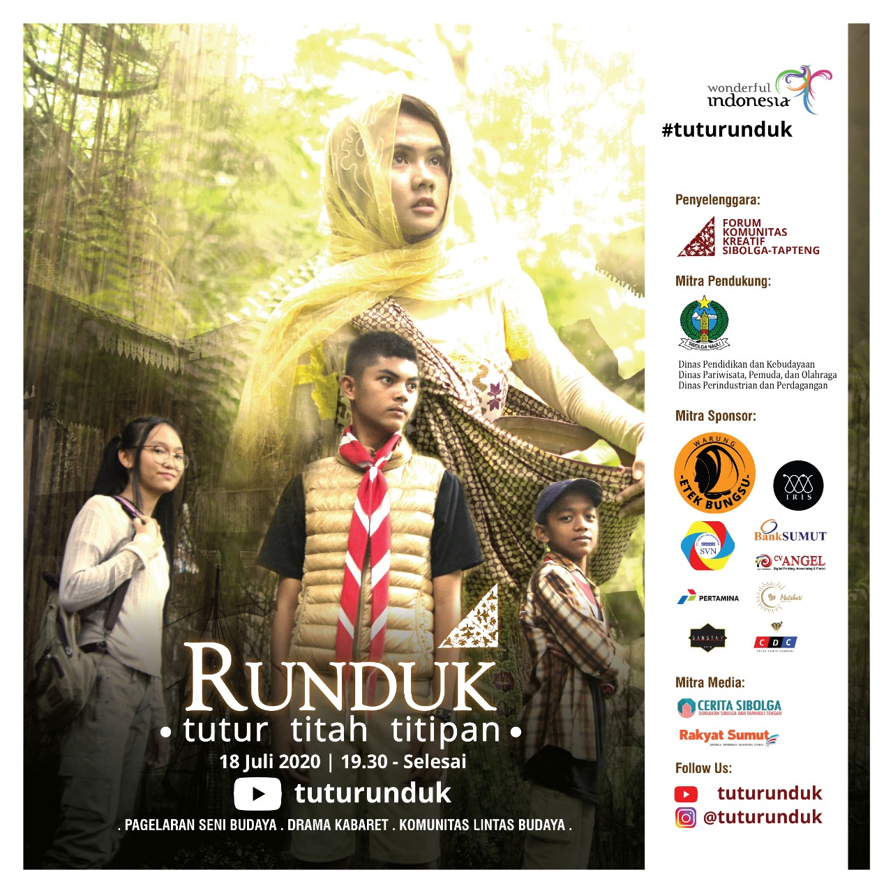 Flyer Pagelaran Drama Runduk Tutur Titah Titipan. Foto: Istimewa