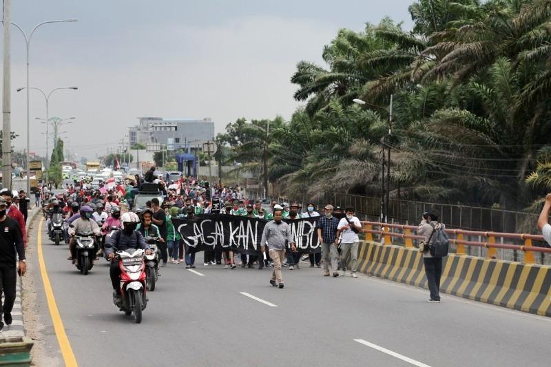 Aksi tolak RUU Omnibus Law di Kota Medan. Foto: Istimewa