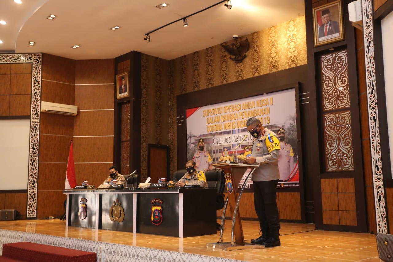 Kapolda Sumut, Irjen Pol Martuani Sormin saat menyampailan sambutan. Foto: istimewa