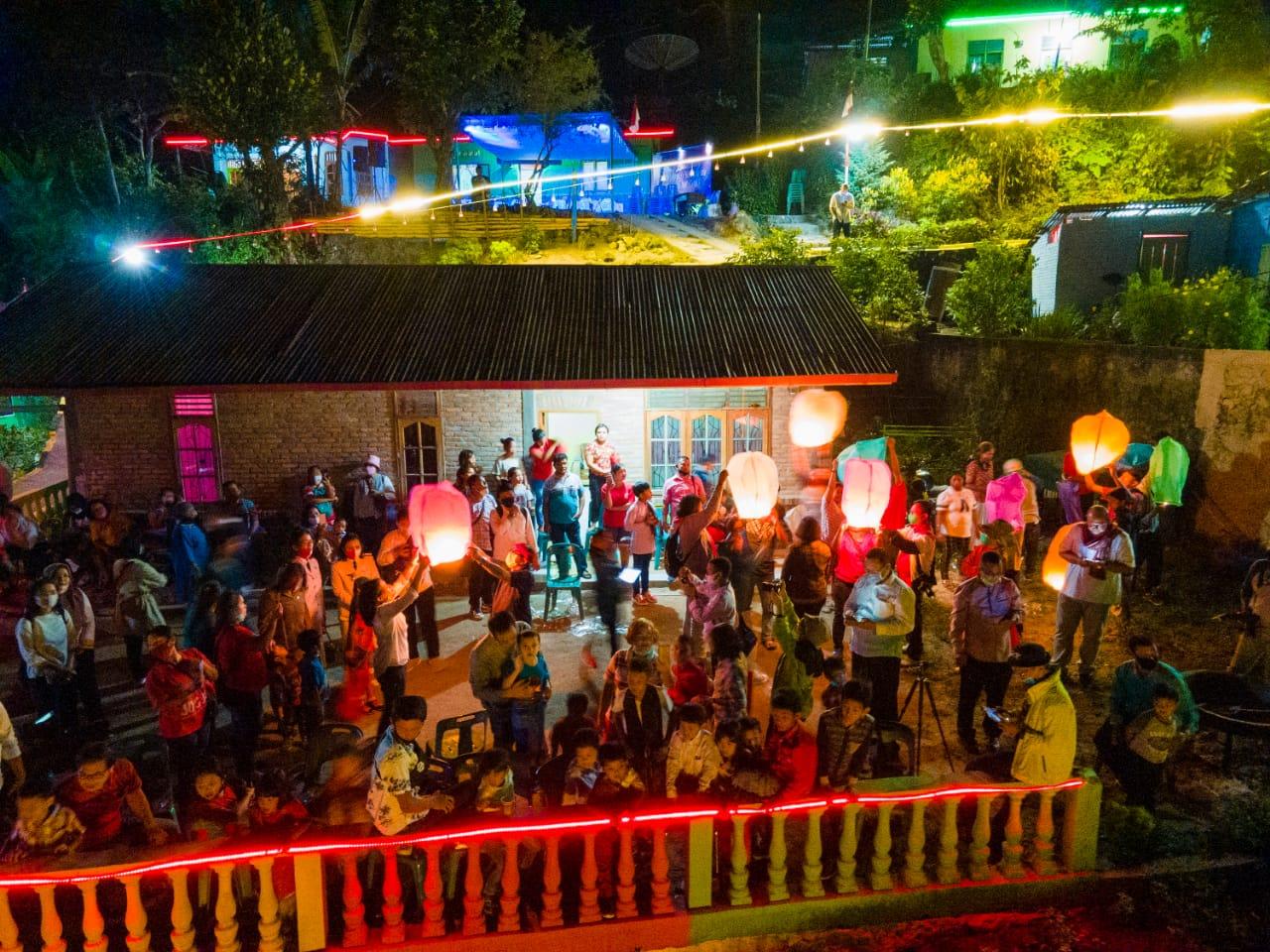 Kampung Wisata Warna Warni Tigarihit Parapat. Foto: istimewa