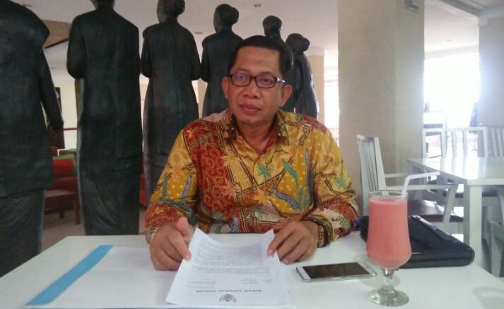 Muliadi SH selaku kuasa hukum Bakhtiar Ahmad Sibarani. Foto: Rakyatsumut.com/ Rommy Pasaribu
