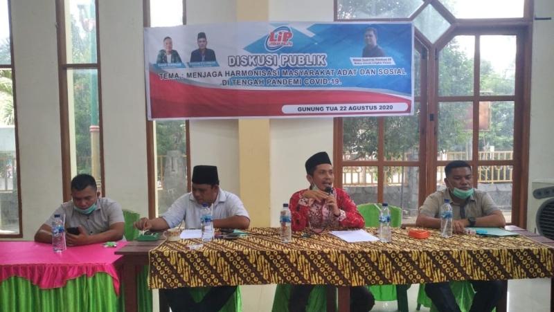 Lingkar Paluta gelar diskusi publik dengan sejumlah Tokoh Masyarakat dan Pemuda. Foto : Rakyatsumut.com/ Rifai Dalimunthe.