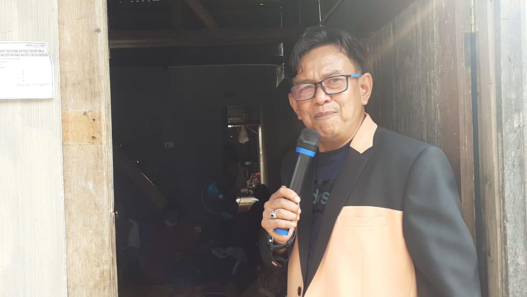 Ketua Tim Pemenangan ABADI Jamil Zebtumory saat berkampanye di Kelurahan Hutabarangan. Foto: Rakyatsumut.com/ Mirwan