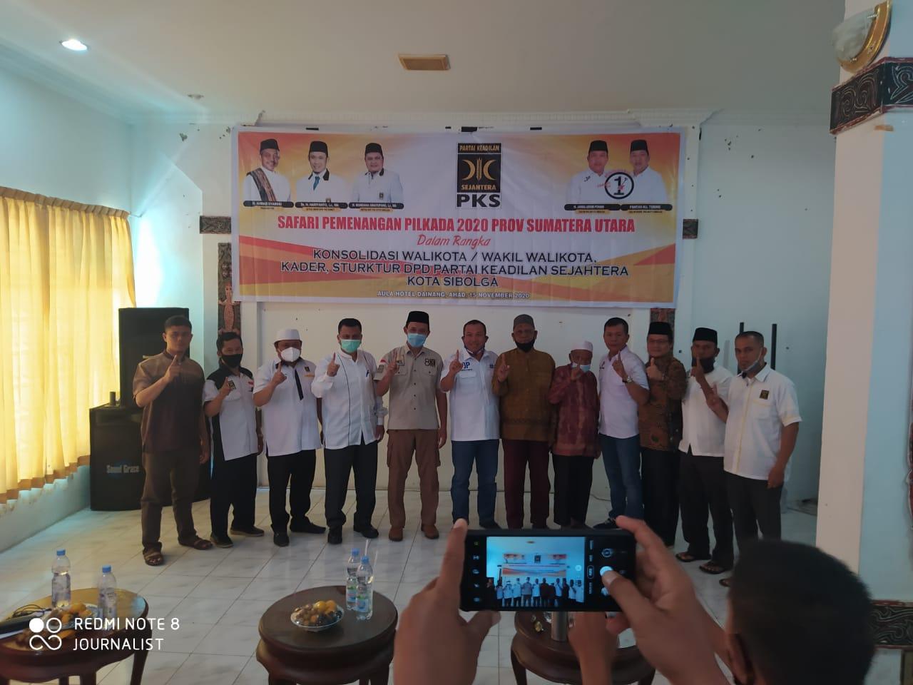 Calon Wali Kota Sibolga Jamaluddin Pohan saat menghadiri Safari Pemenangan PKS Sibolga di Hotel Dainang Sibolga. Foto: istimewa