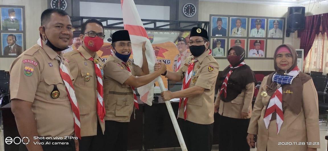 Sekretaris Gerakan Pramuka Kwartir Daerah Sumatera Utara Abdul Rajab Pasaribu saat memberikan kata sambutan. Foto: Rakyatsumut.com/ Mirwan