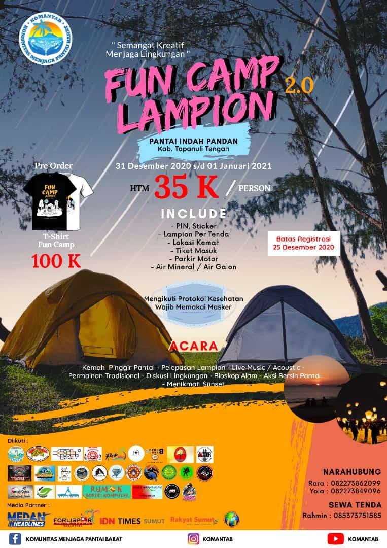 Flyer Funcamp Lampion Komantab 2.0. Foto: istimewa