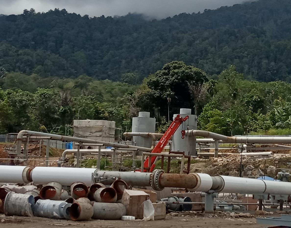 Lokasi proyek penggalian panasbumi di Mandailingnatal. Foto: Istimewa