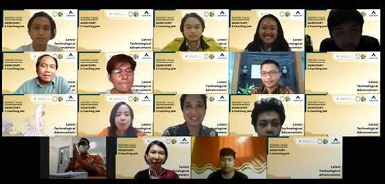 Sebagian para peserta saat mengikuti ECJ 2021 secara virtual yang digagas PT Agincourt Resources. Foto: Dokumentasi PT AR